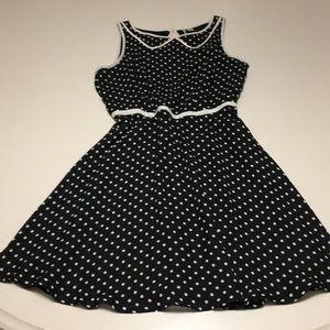 Lauren Conrad black/white polka dot dress